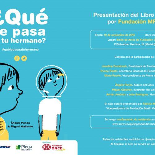 Presentación del libro de hermanos en Madrid. 10 de noviembre